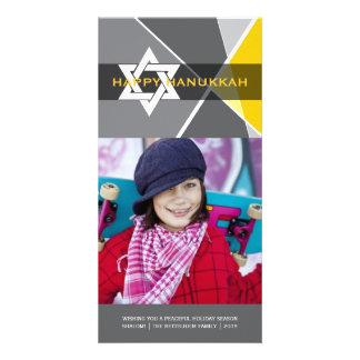 Hanukkah Star Of David Criss Cross Photo Greetings Personalized Photo Card