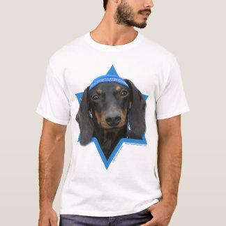Hanukkah Star of David - Dachshund - Winston T-Shirt