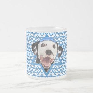 Hanukkah Star of David - Dalmatian 10 Oz Frosted Glass Coffee Mug