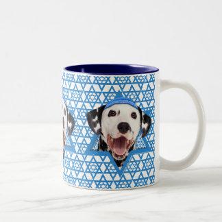 Hanukkah Star of David - Dalmatian Two-Tone Mug