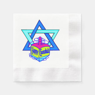 Hanukkah Star of David Disposable Serviettes