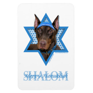 Hanukkah Star of David - Doberman - Rocky Rectangular Photo Magnet