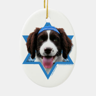 Hanukkah Star of David - English Springer Spaniel Ceramic Oval Decoration