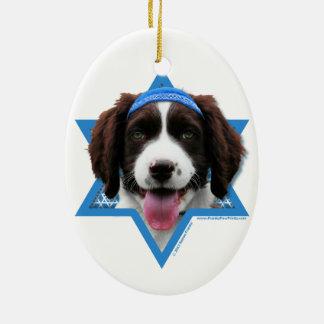 Hanukkah Star of David - English Springer Spaniel Christmas Ornament