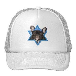 Hanukkah Star of David - French Bulldog - Teal Cap
