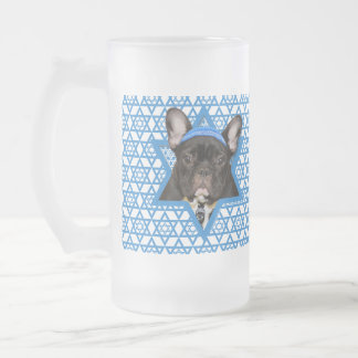 Hanukkah Star of David - French Bulldog - Teal Coffee Mug