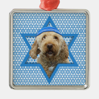 Hanukkah Star of David - GoldenDoodle Christmas Ornament