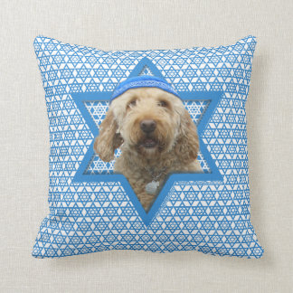 Hanukkah Star of David - GoldenDoodle Cushion