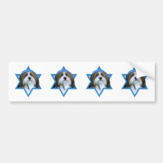 Hanukkah Star of David - Havanese Bumper Sticker