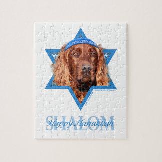 Hanukkah Star of David - Irish Setter Puzzle