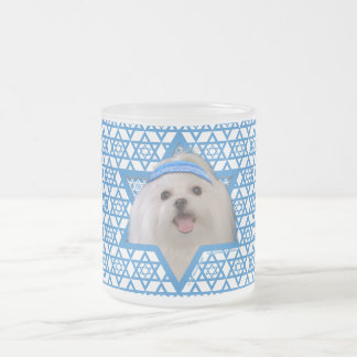 Hanukkah Star of David - Maltese 10 Oz Frosted Glass Coffee Mug