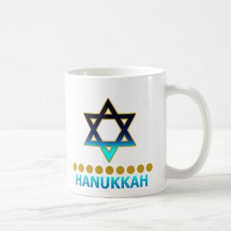 Hanukkah Star Of David Menorah Basic White Mug