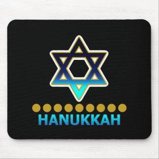 Hanukkah Star Of David Menorah Mouse Pads