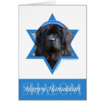 Hanukkah Star of David - Newfoundland Greeting Card