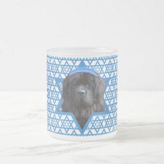 Hanukkah Star of David - Newfoundland 10 Oz Frosted Glass Coffee Mug