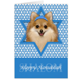 Hanukkah Star of David - Pomeranian Card