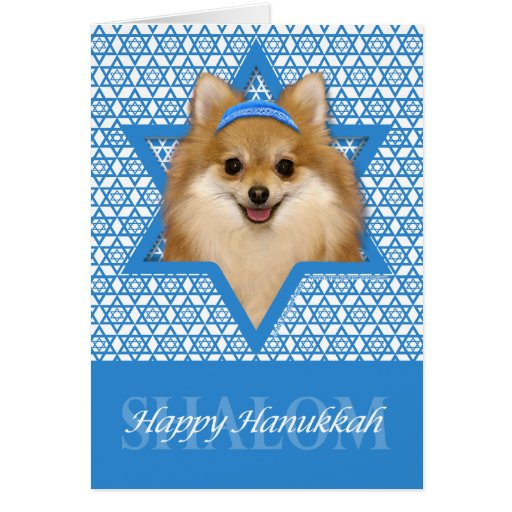 Hanukkah Star of David - Pomeranian Cards