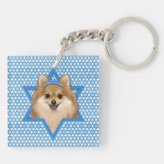 Hanukkah Star of David - Pomeranian Acrylic Keychains