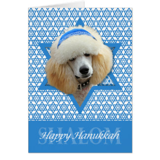 Hanukkah Star of David - Poodle - Apricot Card
