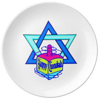Hanukkah Star of David Porcelain Plate
