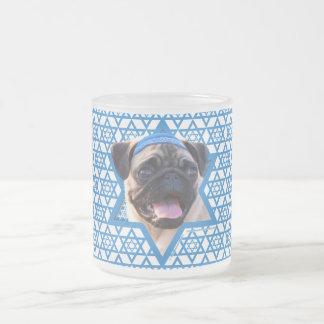 Hanukkah Star of David - Pug 10 Oz Frosted Glass Coffee Mug