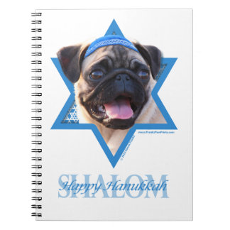 Hanukkah Star of David - Pug Notebooks