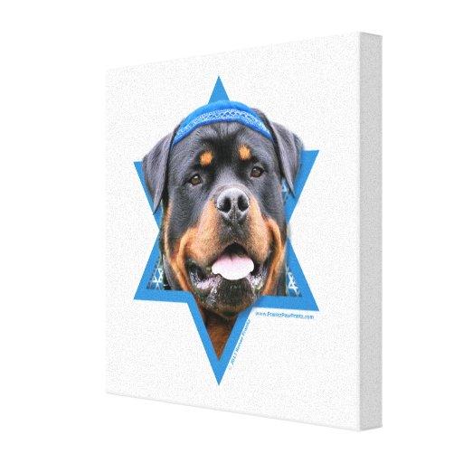 Hanukkah Star of David - Rottweiler Canvas Print