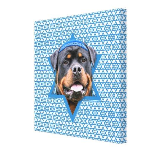 Hanukkah Star of David - Rottweiler Gallery Wrap Canvas
