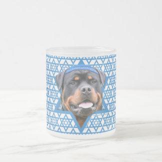 Hanukkah Star of David - Rottweiler 10 Oz Frosted Glass Coffee Mug