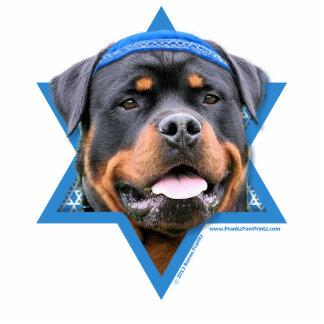Hanukkah Star of David - Rottweiler Standing Photo Sculpture