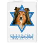 Hanukkah Star of David - Sheltie Card