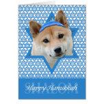 Hanukkah Star of David - Shiba Inu Greeting Card
