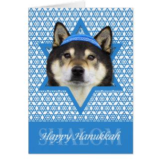 Hanukkah Star of David - Shiba Inu - Yasha Greeting Card