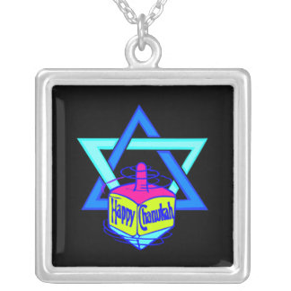 Hanukkah Star of David Silver Plated Necklace