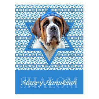 Hanukkah Star of David - St Bernard Postcard