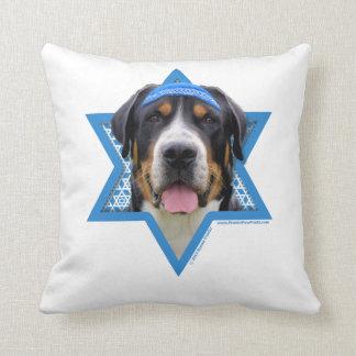Hanukkah Star of David - Swiss Mountain Dog Cushion
