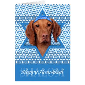 Hanukkah Star of David - Vizsla - Reagan Card