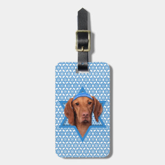 Hanukkah Star of David - Vizsla - Reagan Luggage Tag