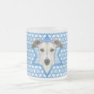 Hanukkah Star of David - Whippet 10 Oz Frosted Glass Coffee Mug