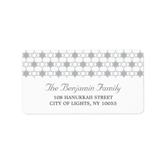 Hanukkah Stars Of David Holiday Address Labels