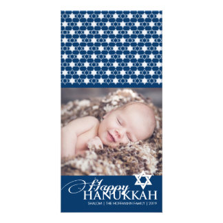 Hanukkah Stars Of David Modern Photo Greetings Photo Cards