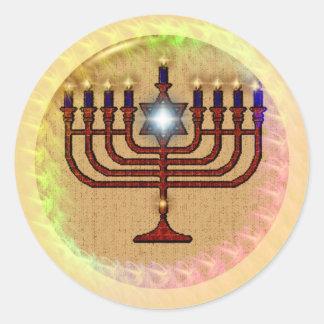 Hanukkah Round Stickers