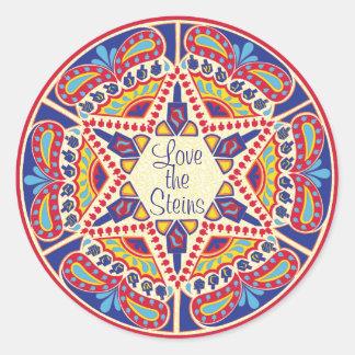 "Hanukkah Stickers (1 1/2"" or 3"") Hanukkah Dreidels"