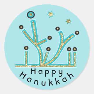 "Hanukkah Stickers ""Blue Lights Latkes Chanukah"""