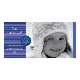 Hanukkah Striped Card
