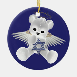 Hanukkah Teddy Bear Christmas Ornament
