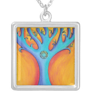 Hanukkah Tree 2 Necklace