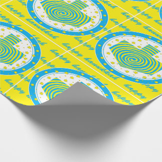 "Hanukkah Wrapping Paper ""Dreidel Pinwheels 2"""