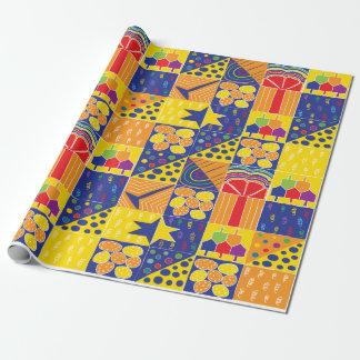 """Hanukkah Wrapping Paper """"Hanukkah Squares"""""""