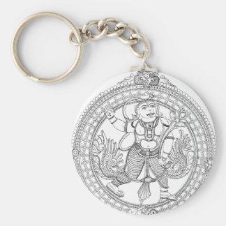 Hanuman Basic Round Button Key Ring